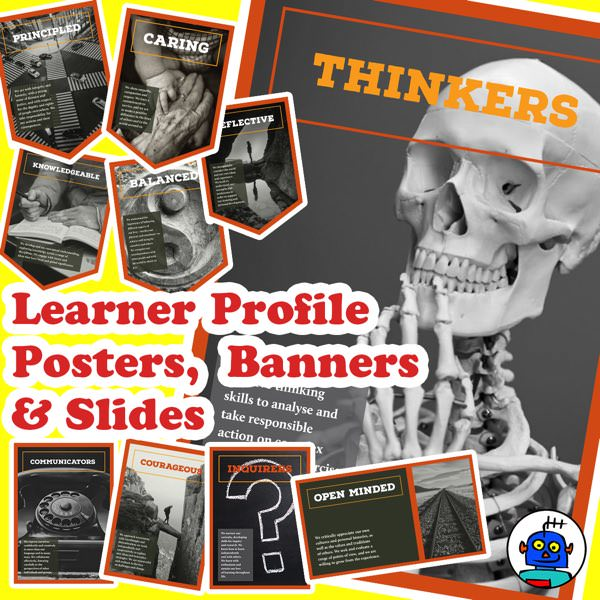 Learner Profile Posters Banners and Slides for IB Classrooms