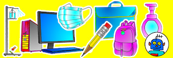 Classroom_Objects_Covid_Flash_Cards_Clip_Art