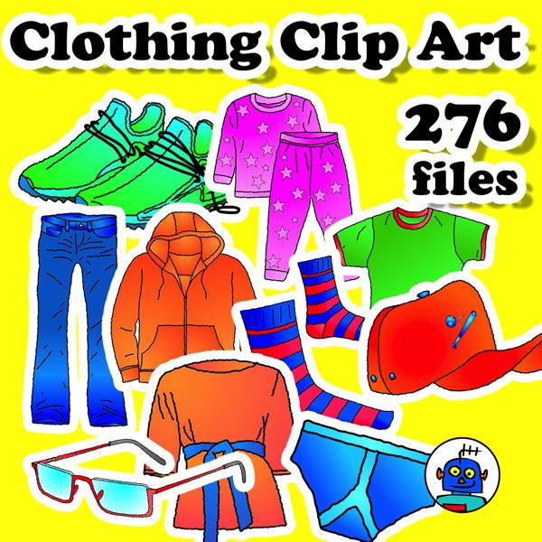 Clothing Clip Art for Secondary