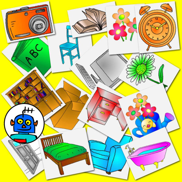 Teachers Pay Teachers clip art household objects Colour
