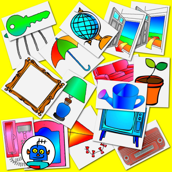 clip art household objects Colour