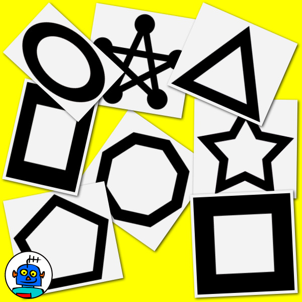 clip art shapes black and white