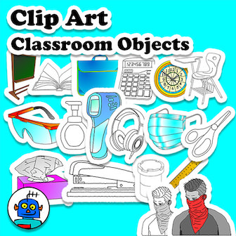 clip art for classroom objects