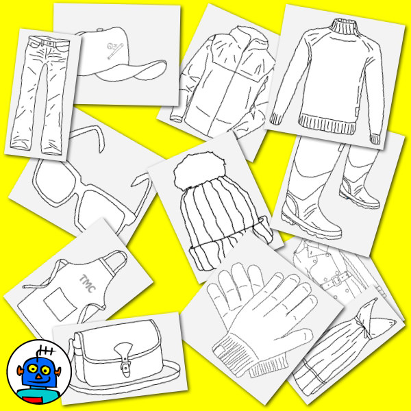 clothing clip art black and white line