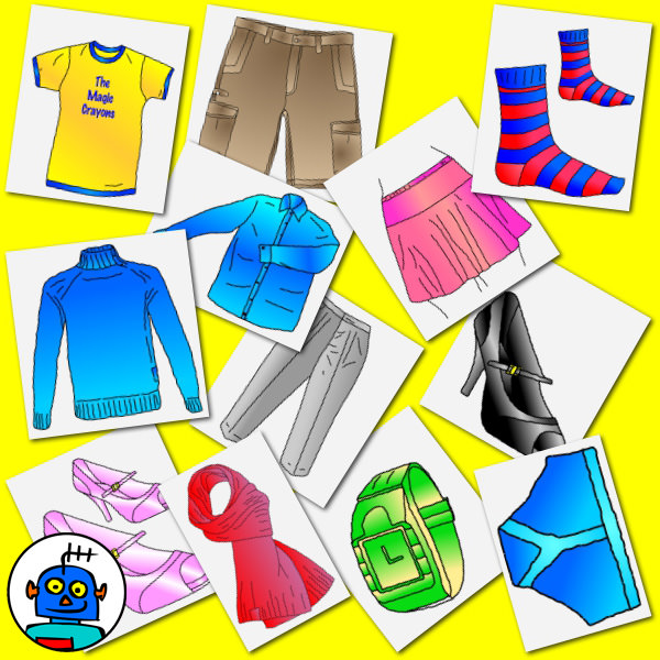 color clothing and accessories clip art