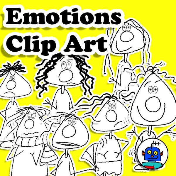 emotions and feelings clip art line