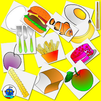 food and cutlery clip art color