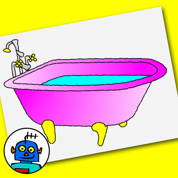 clip art bath tub