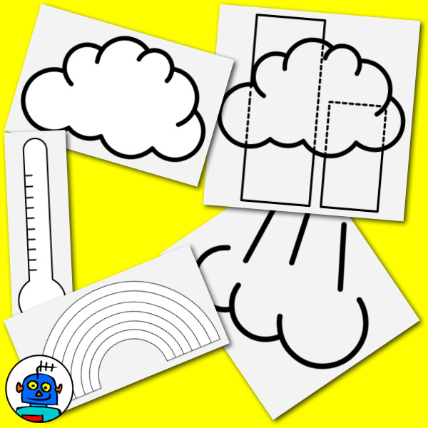 weather clip art black and white line