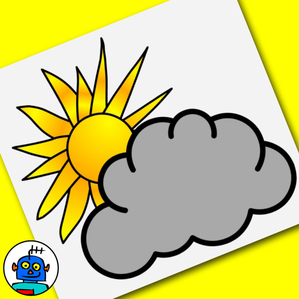 weather clip art partly cloudy