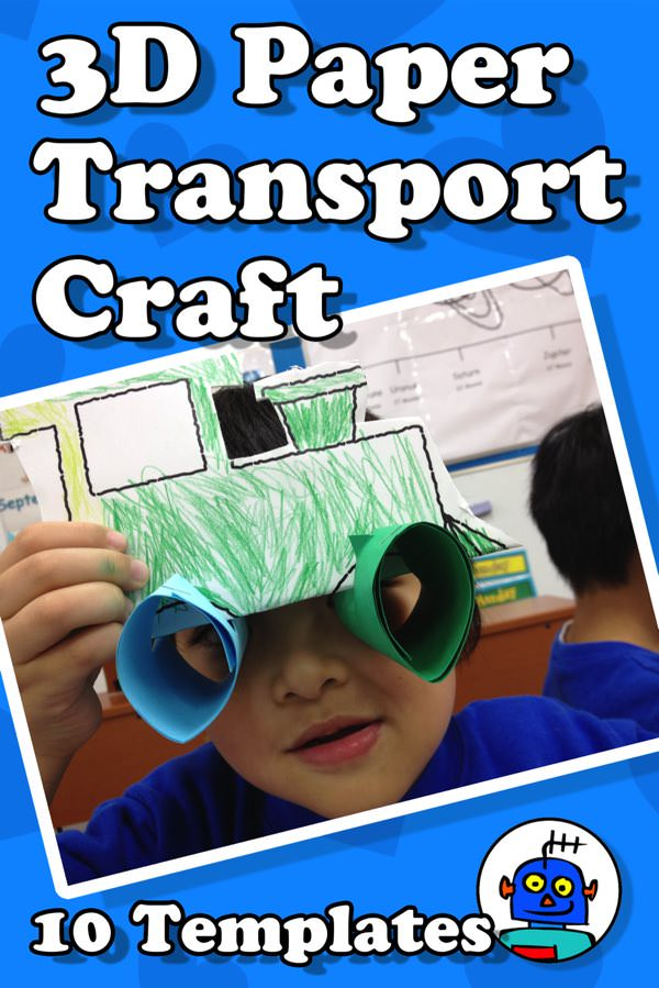 3D Paper Transport Craft