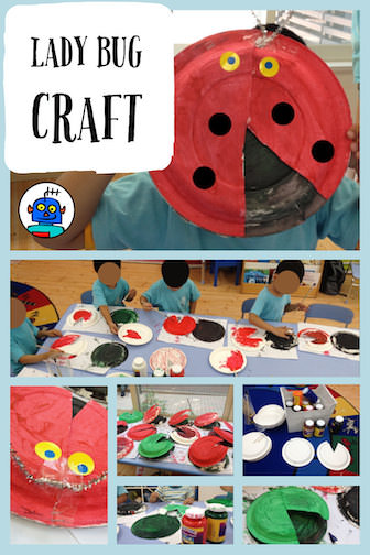 Kids Free Crafts Insects Ladybug Lady Bug Ladybird