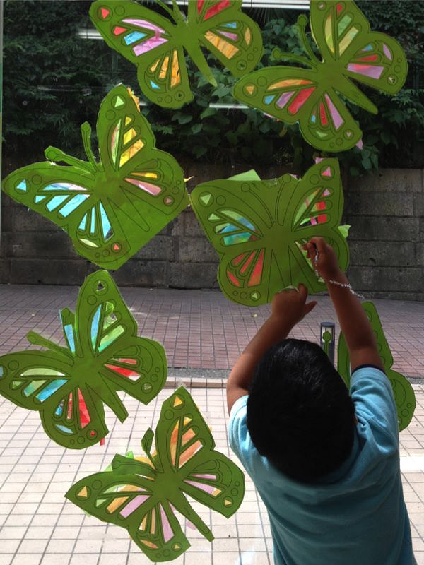 Butterfly window insect craft