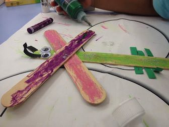 paint and glue popsicle sticks