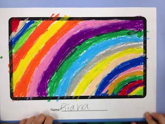 fill paper with color