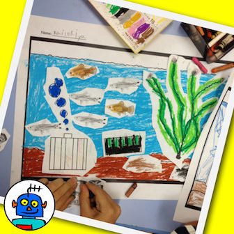 Classroom Aquarium or Fish Tank Craft