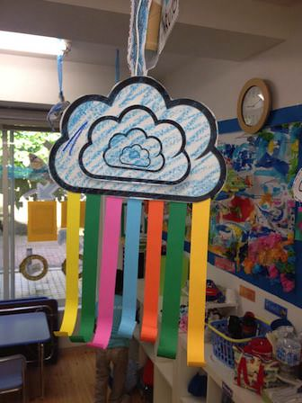 Clouds And Rainbows Mobile Craft