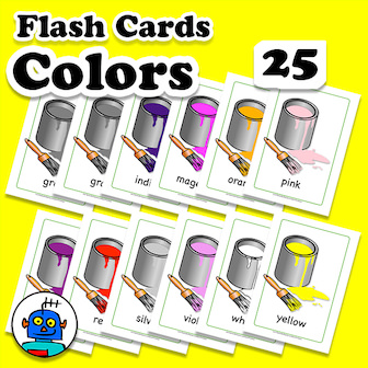 Colors Flash Cards English ESL