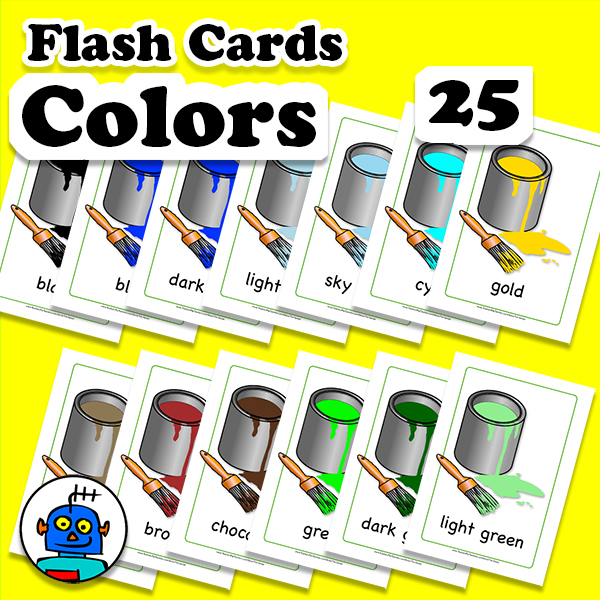 Colors Flash Cards English ESL EFL