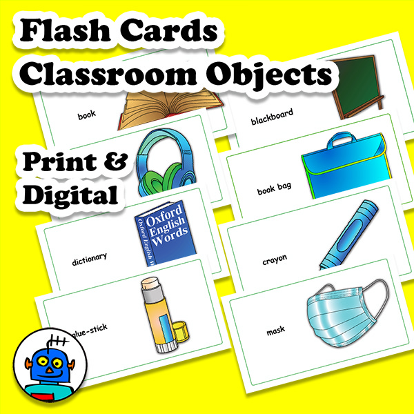 Digital Flash Cards English Classroom