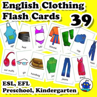 ESL Clothing Flash Cards