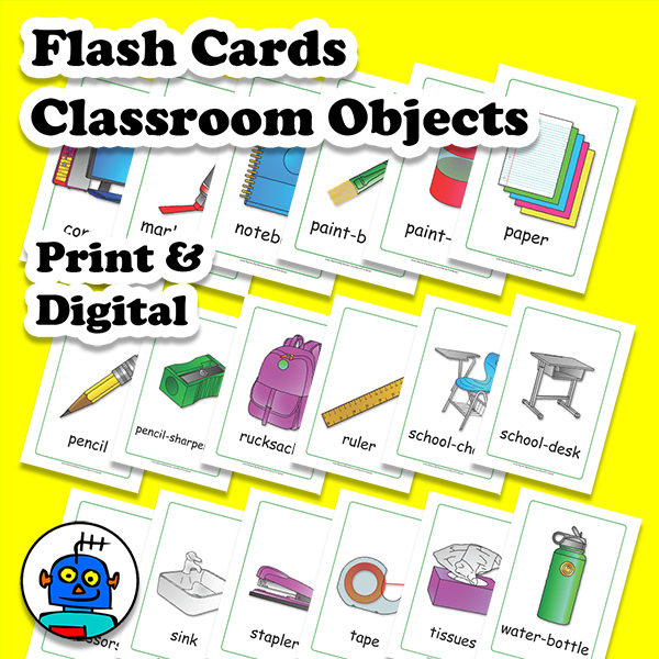ESL EFL Flash Cards Classroom Objects