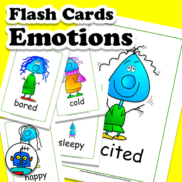 English Flash Cards Emotions and Feelings