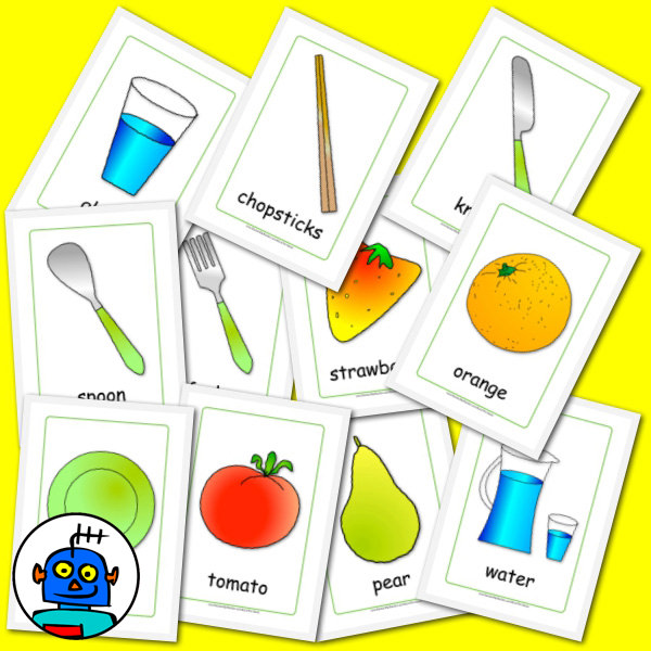 English Food Flash cards