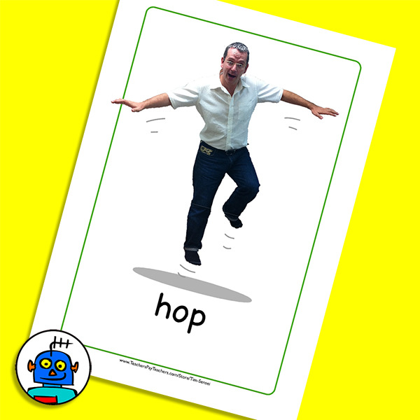 Flash Cards for Actions Hop