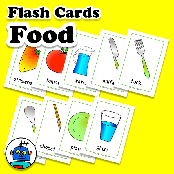 Food Flash Cards English ESL EFL