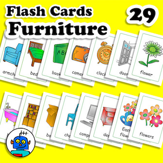 Furniture Flash Cards English ESL