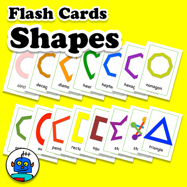 2D Shapes Flash Cards