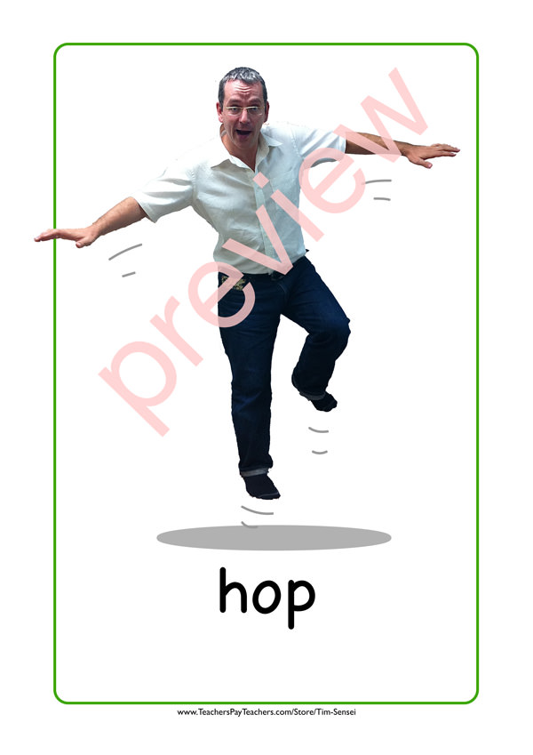 hopping flash card
