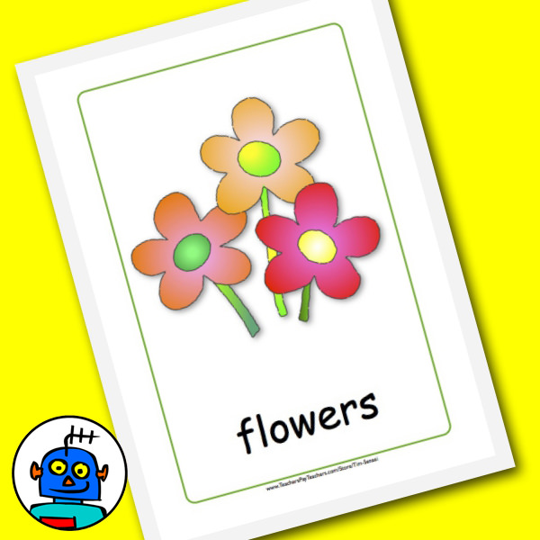Bunch of flowers flash card