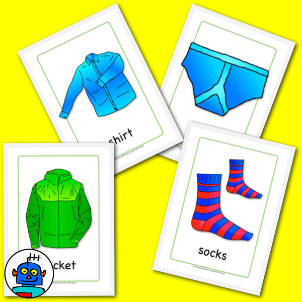 FREE Clothing Flash Cards