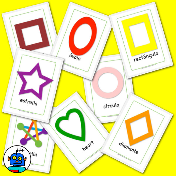 Japanese 2D Shapes Flash Cards Pack