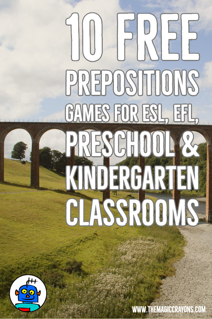 10 Free Prepositions Games for ESL EFL Preschool Kindergarten classrooms