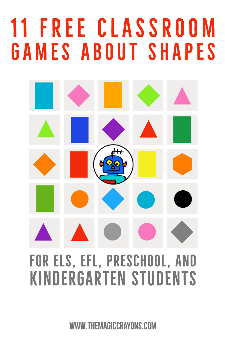 11 Free Classroom Games about Shapes