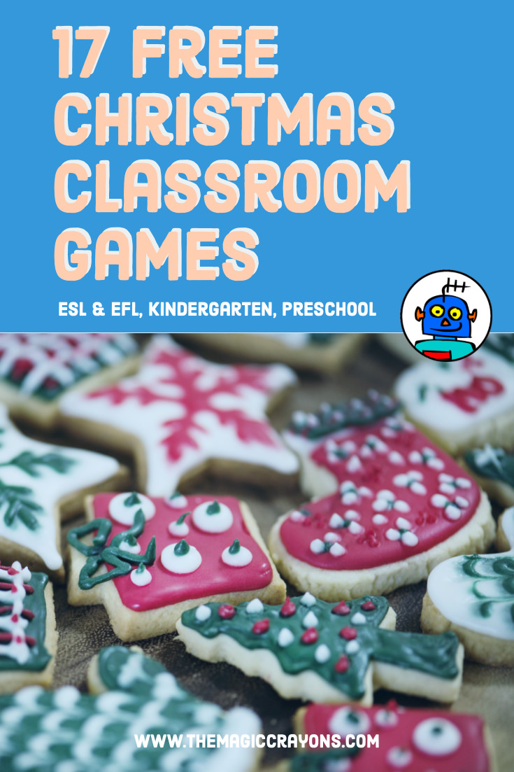 17 Free Christmas classroom games for kindergarten and preschool
