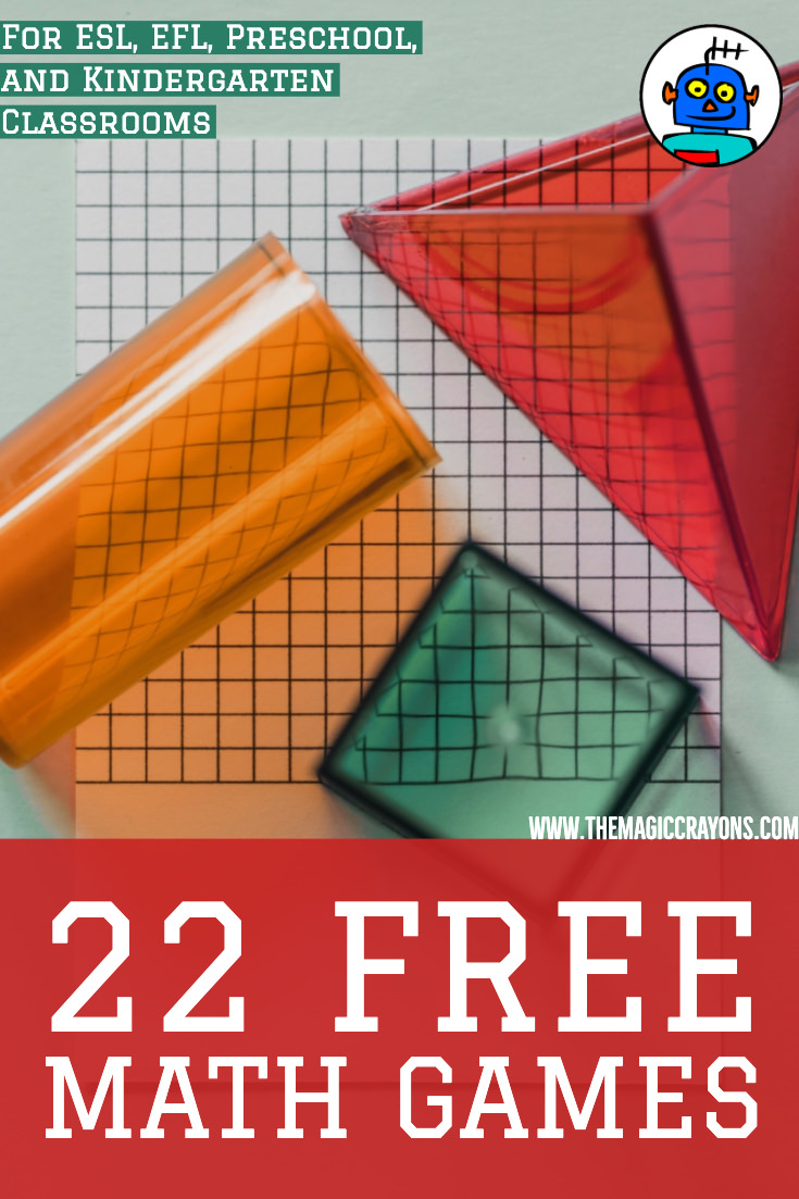 22 Free Math Games for ESL Preschool and Kindergarten Classrooms