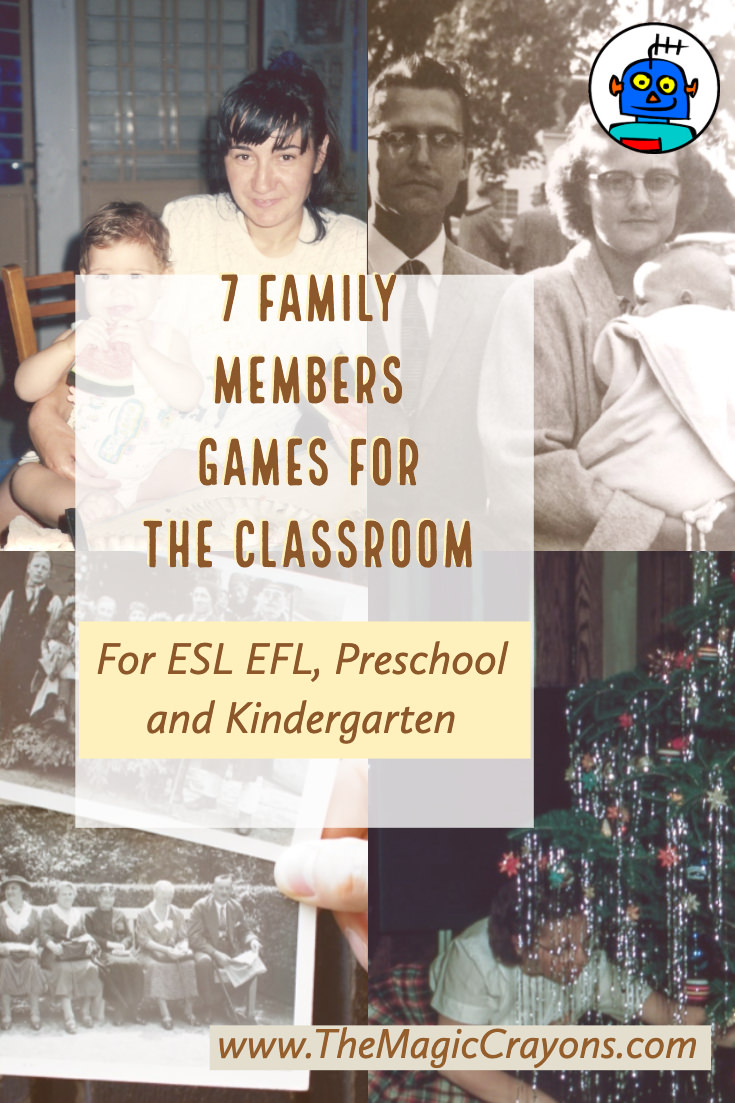 7 Family Members Games for the ESL Classroom