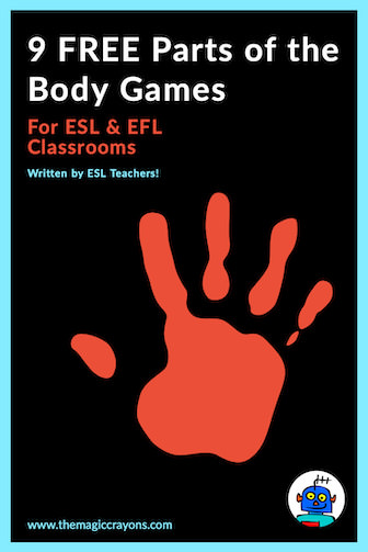 Free ESL Parts of the Body Classroom Games