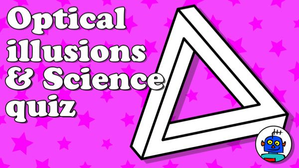 Optical Illusions Science Quiz and Clip Art