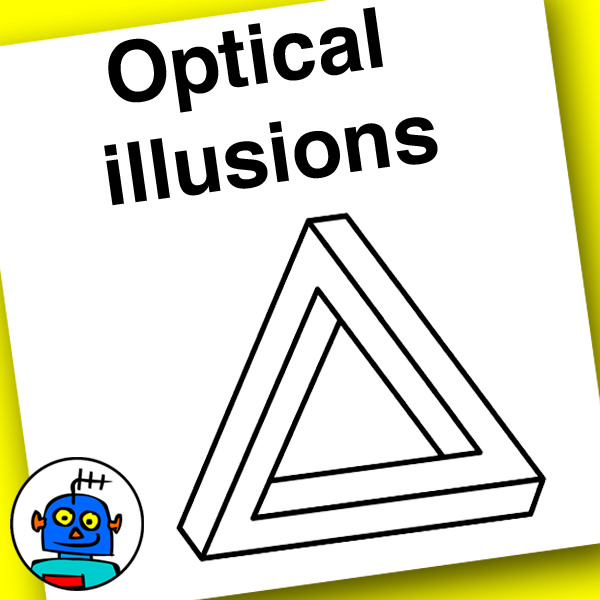OPtical illusions flash cards and clip art