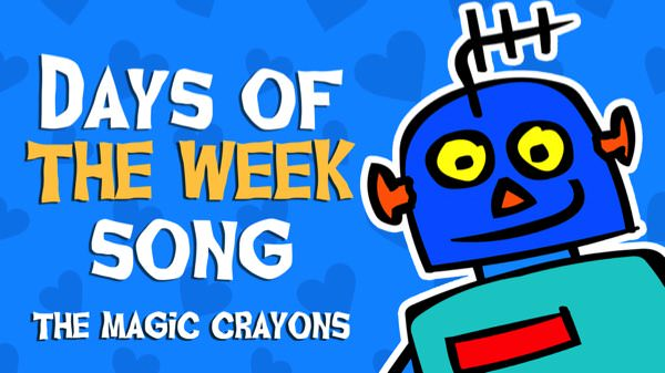 Days of the week song by The Magic Crayons