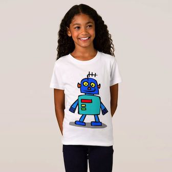 Girls t-shirt with Robot