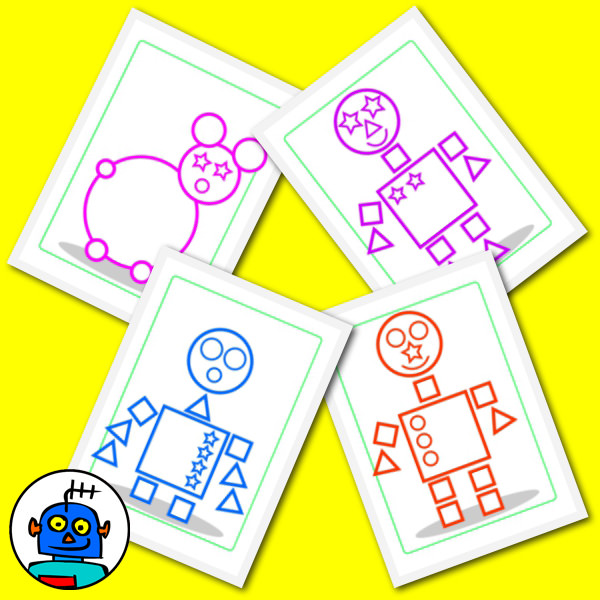 Robot Shape Guess Game