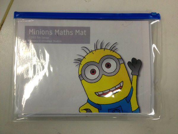 Minions Maths Mat for learning addition