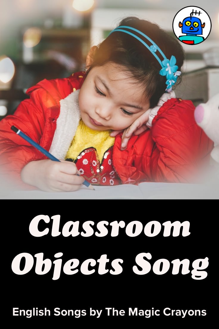 ESL EFL Kindergarten Engllish Kids Classroom Objects Song