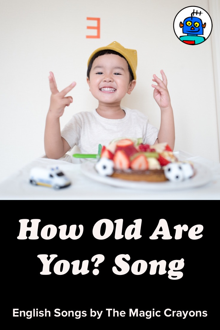 ESL EFL Kindergarten English Kids How old are you song
